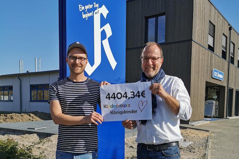 € 4.404,34 für das Kinderhospiz Königskinder