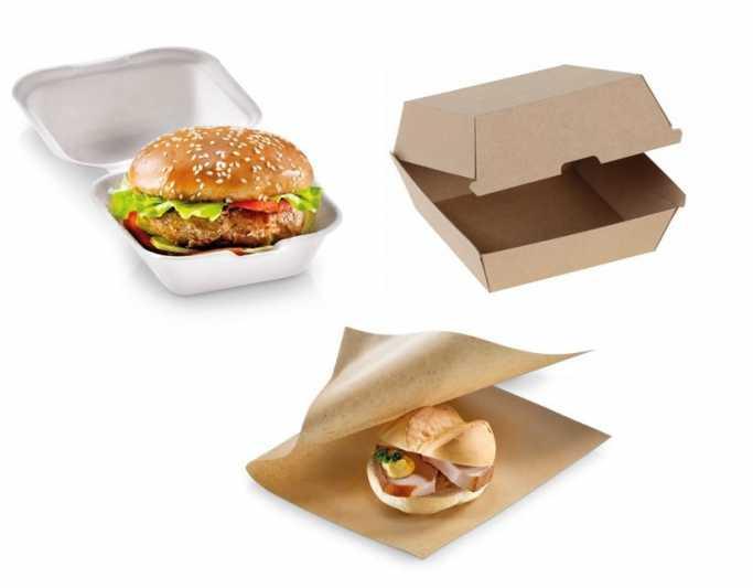 Bunte Burger-Kreationen nachhaltig verpackt