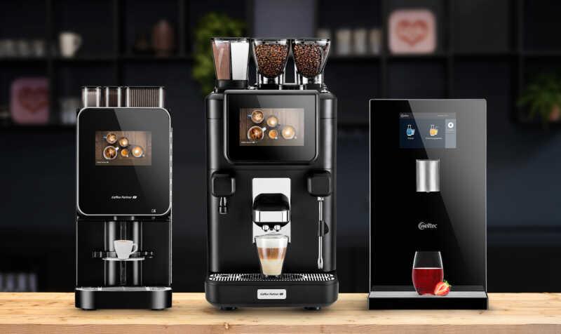 Kaffee Partner launcht drei neue Systeme Mit zwei Kaffeevollautomaten und einem Wasserspender erweitert der Marktführer für professionelle Kaffee- und Wasserssysteme seine Produktpalette.